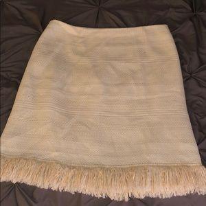 Fringey Cream Skirt